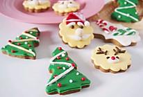 #令人羡慕的圣诞大餐#姜饼圣诞翻糖饼干的做法
