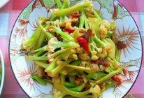 干锅有机花菜(米饭好搭档)的做法