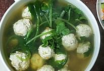 小白菜肉丸子汤的做法