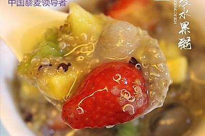 冰镇藜麦水果粥