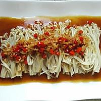 蒜蓉米椒蒸金针菇#方太蒸爱行动#的做法图解6