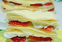 草莓千层蛋糕 可丽饼版的做法