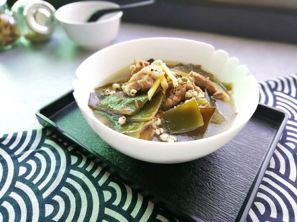 海带薏仁猪骨汤~利水去湿#做道好菜,自我宠爱!#的做法