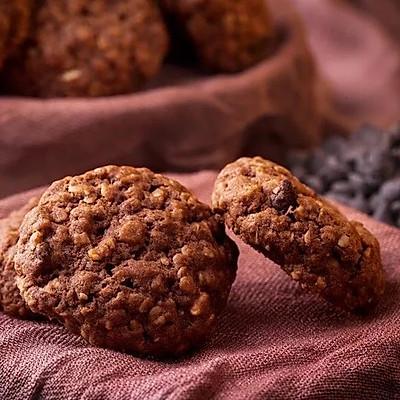 可可燕麦小饼干 脆香的下午茶零食就是它 可可燕麦小饼干 脆香