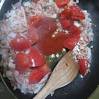 番茄虾仁炒饭的做法图解5