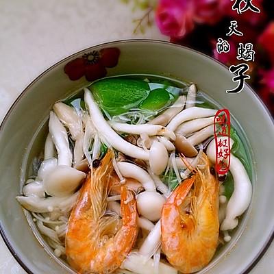 [夏日时光]—虾干菌菇丝瓜汤