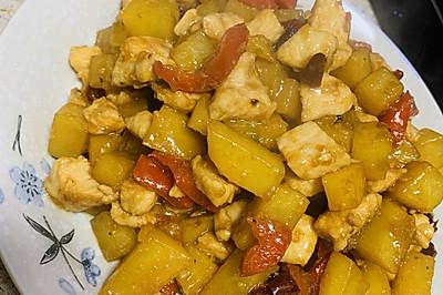 土豆烧鸡胸肉丁丁
