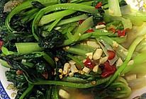 辣炒菊花菜的做法