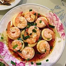 日本豆腐蒸虾