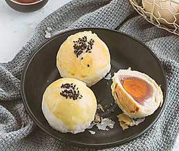 网红雪媚娘蛋黄酥~的做法