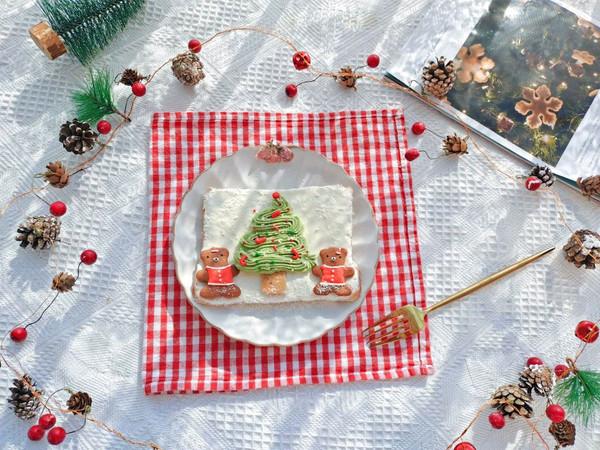 高颜值浪漫圣诞树吐司