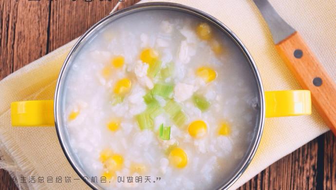 孕、幼儿食谱【玉米鸡蓉粥】