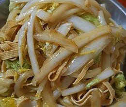 白菜炒千张的做法