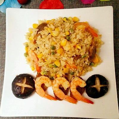 海鲜腊味焖饭