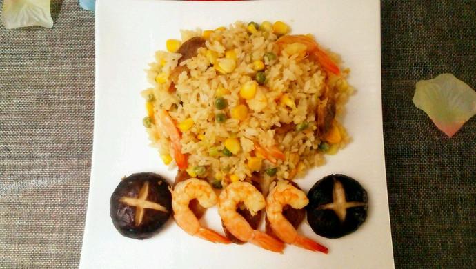 海鲜腊味焖饭#美的初心电饭煲#