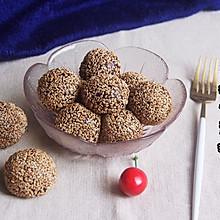 #馅儿料美食,哪种最好吃#豆沙紫薯芝麻球