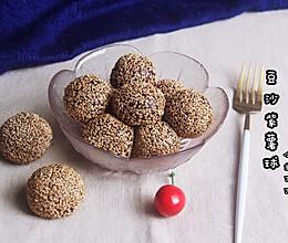 #馅儿料美食,哪种最好吃#豆沙紫薯芝麻球的做法