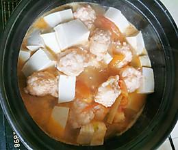 虾滑豆腐煲的做法