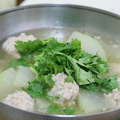 天津家常菜:猪肉冬瓜丸子汤