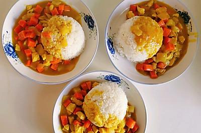 美味咖喱鸡块饭