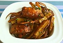 河蟹炒年糕的做法