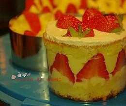 法式草莓蛋糕的做法