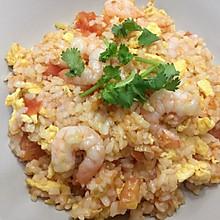 鸡蛋西红柿虾仁炒饭