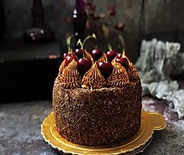 浓情蜜意-巧克力奶油蛋糕的做法