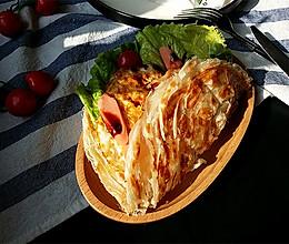 火腿鸡蛋手抓饼#洁柔时刻,纸为爱下厨#的做法
