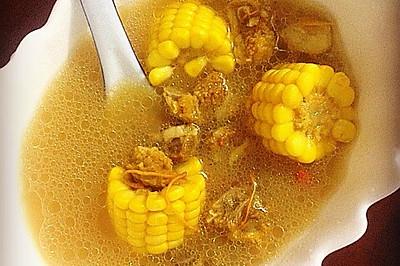 虫草花玉米排骨汤——金色秋季一定要喝的养生汤