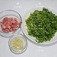 肉末茼蒿的做法图解2