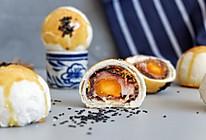 豆沙肉松麻薯蛋黄酥#网红美食我来做#的做法