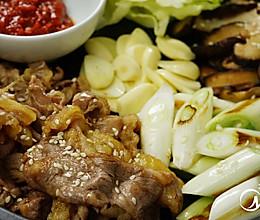 韩式香菇煎肥牛的做法