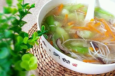 菌菇丝瓜汤