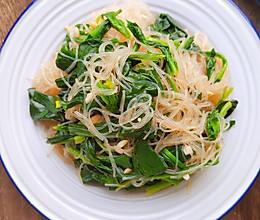 年夜饭菠菜拌粉丝的做法