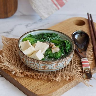 青菜平菇豆腐汤