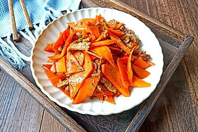 罗勒牛肉香炒胡萝卜