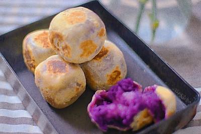 无糖低油紫薯仙豆糕(麻薯馅)
