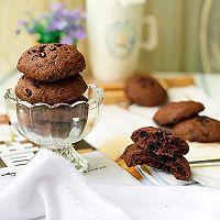 #带着美食去踏青#淡奶油巧克力软曲奇的做法图解11
