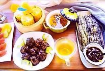 #全电厨王料理挑战赛热力开战!#香菇酿肉  秋葵蒸蛋的做法