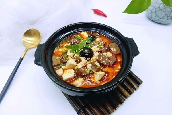 鸭血烩豆腐#每道菜都是一台食光机#的做法