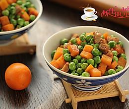 青豆红薯炒肉丁的做法