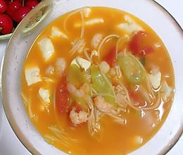 丝瓜虾仁儿豆腐汤菜的做法