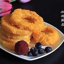 诱人的苹果甜甜圈