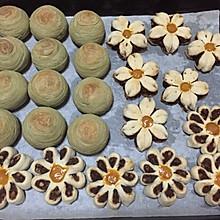抹茶绿豆酥&菊花红豆酥
