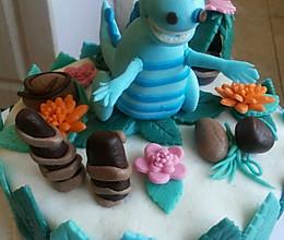 翻糖恐龙慕斯蛋糕的做法