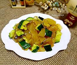 凉拌黄瓜拉皮的做法