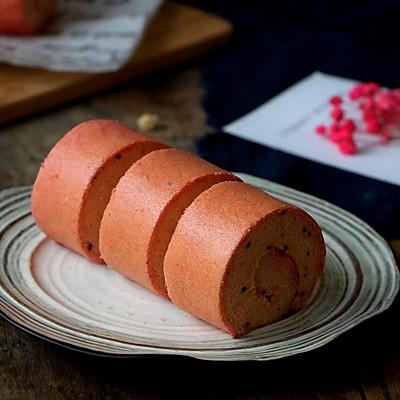 火龙果蛋糕卷