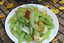 西芹百合炒白果的做法