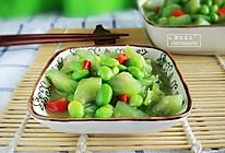 毛豆丝瓜的做法